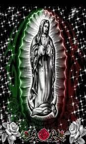 Mexican flag virgin mary