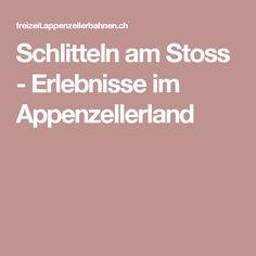 Schlitteln am Stoss - Erlebnisse im Appenzellerland Switzerland