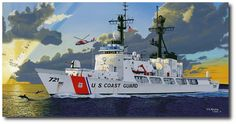 On Patrol by David Mueller (USCGC Gallatin, (WHEC 721), on patrol in Caribbean waters.)