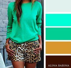 combinaisons de couleurs pour pouvoir composer la tenue parfaite