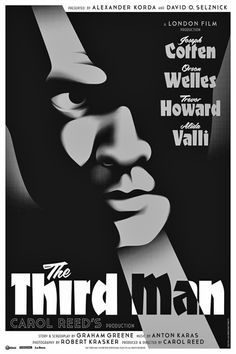 """Movie poster, """"The Third Man"""", starring Orson Welles and Joseph Cotton"""