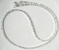 GLAMOROUS Swarovski Crystal AB Eyeglass Chain by BeaditudeBoutique