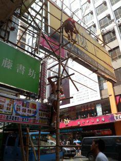 Bamboo scaffolding China style !