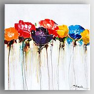 Oil Painting Modern  Abstract Flower Painting Hand Painted Canvas with Stretched Framed Ready to Hang
