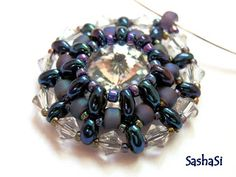art, crafts and beads: Preciosa TWIN - Rivoli Pendant Tutorial - free for personal use