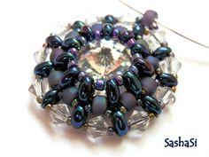 art, crafts and beads: Preciosa TWIN - Rivoli Pendant Tutorial - free for personal use