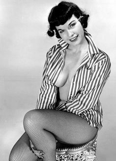 Bettie Page (April 22, 1923 – December 11, 2008) became famous in the 1950s as a pin-up girl. Description from randumbuzz.com. I searched for this on bing.com/images