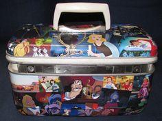 Disney themed vintage train case travel bag makeup case by Rhonda Gelstein of Funky Stuff Gifts  SOLD  www.facebook.com/funkystuffgifts