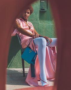 Publication: Porter Magazine Fall 2017 Model: Karly Loyce Photographer: Emma Tempest Fashion Editor: Maya Zepinic Hair: Ali Pirzadeh Make Up: Janeen Witherspoon Color Photography, Editorial Photography, Fashion Photography, Inspiring Photography, Prada, Fancy Gowns, Pastel Fashion, How To Pose, Second Skin