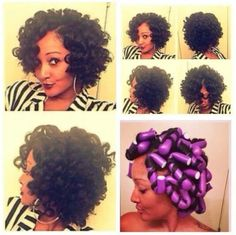 Super cute!! )) Natural Hair Glory. Flexi rod (natural hair hairstyles)