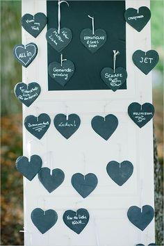 chalkboad guest book ideas #diyguestbook #signaheartguestbook #weddingchicks http://www.weddingchicks.com/2014/04/22/breezy-beautiful-picnic-wedding/