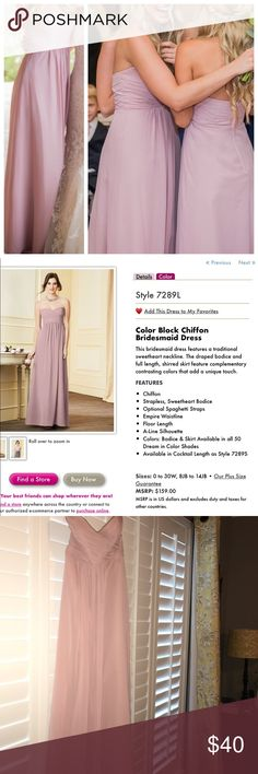 Alfred Angelo Size 0 Blush Bridesmaid Dress Worn once! Alfred Angelo - Style 7289L - color: loves first blush - Size 0 (altered down also) one inch removed from length & taken in at sides.  When I  first purchased, the dress fit more like a 2, after alterations it now fits as a normal size 0 would. :) BEAUTIFUL dress! Alfred Angelo Dresses Wedding