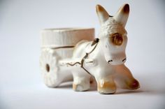 NAPCO Donkey with Cart Planter  1950s by NotYourMomsVintage, $12.50