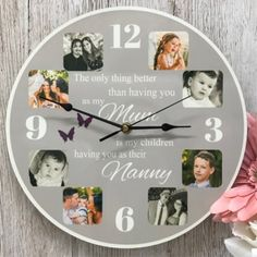 The only thing better Personalized Clocks, Photo Clock, Candle Packaging, Wow Factor, General Crafts, Photo Quality, Wow Products, Epoxy, Mothers