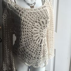 Beautiful Sweater...... One of my favorite closet items.....truly stunning addition to any closet......Lost weight and does not fit anymore....Worn three times......Camisole Sold Separately.....My Price Is Firm Please!!!  You will not be disappointed.... Same Day/Next Day Shipping/ No Trades, Modeling, PP or Low Ball Offers Please!!!!  ❤️❤️ Vivid Importers of NY Sweaters Crew & Scoop Necks
