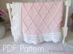 Knitting PATTERN 63 Paris Knit Baby Blanket PATTERN 63