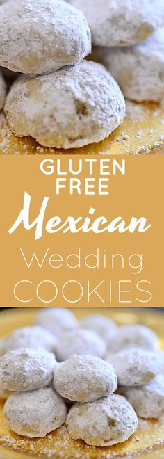 Gluten Free Mexican Wedding Cookies Recipe | gluten free cookies | gluten free homemade cookies | gluten free cookie recipes | gluten free desserts | gluten free dessert recipes | Mexican Wedding Cookies gluten free || Now Find Gluten Free