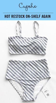 ccfda258ad1f7 Trending Swimwear 2018 : HOT RESTOCK ON-SHELF AGAIN! Fresh simple  high-waisted bikini set features chic i…