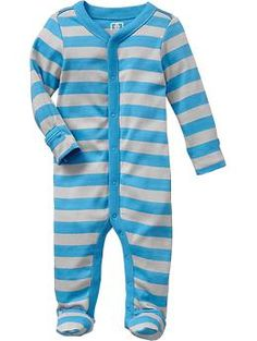Printed Footed One-Pieces for Baby | Old Navy baby boy