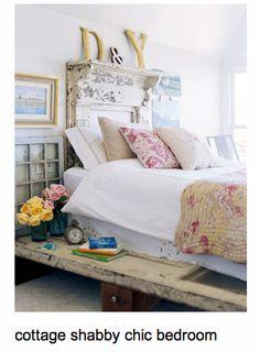 cottage shabby chic bedroom    sallyleecandles
