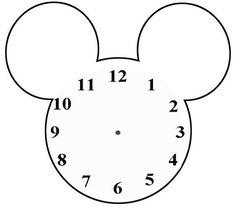 Blank Clock Templates For Teaching Time Clock Template, Face Template, Blank Clock Faces, Mickey Mouse Clock, Clock Face Printable, Mickey Mouse Birthday Invitations, Teaching Time, Teaching Ideas, Cover Letter Sample