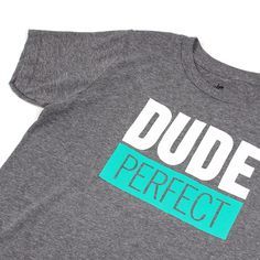 Dude Perfect 'Logo' Youth Tee - Premium Heather - Detail