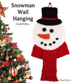 Snowman Wall Hanging By Janaya - Free Crochet Pattern - (charmedbyewe)