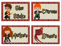 Organize your classroom with these wizard themed classroom labels. Includes 10 premade labels for glue sticks, crayons, markers, sharpened pencils, dull pencils, highlighters, scissors, and task cards, but also includes blank labels for you to print and write on.