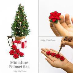 Tiny Crochet Poinsettias by Happy Patty Crochet