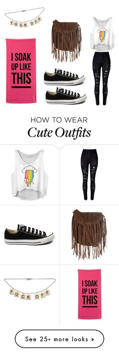 """universidade"" by brenda6894 on Polyvore featuring Converse, Glamorous, women's clothing, women, female, woman, misses and juniors"