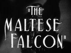 The maltese falcon (1941) movie title
