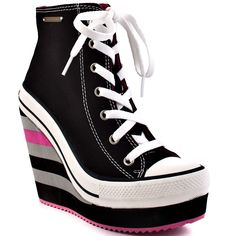 Rock & Candy Converse Wedge Heels. Like these, except the stripes.