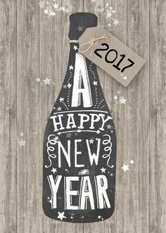 tante idee regalo per lei 2017 www. New Year Cards Handmade, Happy New Year Cards, Happy Year, Christmas And New Year, Xmas, Chalkboard Art Quotes, New Year 2017, Quotes About New Year, Nye Party