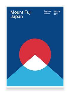 Image result for fuji minimalist poster