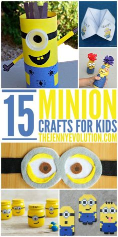 crafts for kids It's time for a new Minion craze! With the new movie coming out, your kids will be all about Minions. Here are 15 easy Minion crafts for the whole family. Cute Crafts, Crafts To Do, Crafts For Kids, Minion Craft, Happy Minions, Minion Party, Minion Theme, Minion Birthday, Crafty Kids