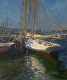 """""""Gloucester Schooner,"""" Stephen Griffin, 2004, oil on canvas, 24 x 20"""", private collection."""