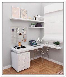 Study Room Decor, Room Ideas Bedroom, Small Room Bedroom, Home Decor Bedroom, Small Room Desk, Home Room Design, Home Office Design, Home Office Decor, Bureau Simple