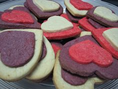Valentine's Day Hearts Sugar Cookies