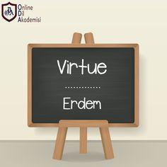 #gününkelimesi  Virtue → Erdem  #ODA #onlinedilakademisi #ingilizce #kelime