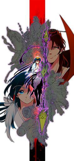 MAGI: The Labyrinth of Magic, Ren Hakuryuu, Ren Hakuei & Ren Kouen