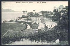 Rio de Janeiro - Avenida Beira-mar (Russell) - Cartão Postal antigo original, nº 217, editado por A. Ribeiro.