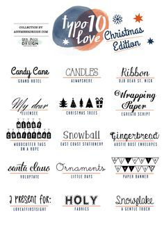 Ann.Meer by Anna-Maria Dahms: lovely Fonts #10: Christmas!