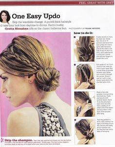 One Easy Updo- For Clinicals Mom Hairstyles, Pretty Hairstyles, Easy Braided Updo, Morning Hair, Great Hair, Hair Dos, New Hair, The Help, Hair Inspiration
