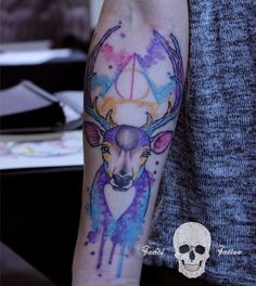 Watercolor Stag is just for serious Harry Potter fans