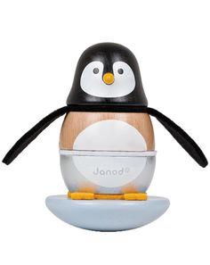 Steh-Auf-Männchen PINGUIN aus Holz in braun/weiß von Janod ✔ Kurze Lieferzeit ✔ Jetzt bei tausendkind kaufen!
