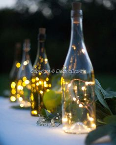 Wine Bottle Centerpieces for Wedding, Fairy Lights, Wine Theme, Battery Operated, Led cork lights, without drilling, wine bottle lights, wedding table, decorations, lighting   **wine bottle NOT included**  New wine bottle lights! Add these lights to any wine bottle. Turn basic into stunning✨  NO holes to drill in bottle! NO cords to hide!  ⭐️SALE on NOW! BUY 5 get the 6th FREE! CHOOSE from:  Warm white & cool white - silver wire Warm white - copper wire   Ordering is EASY. Just click the ...
