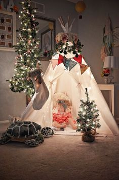 What is more magical than a child's play tent, illuminated with twinkle lights? This might be one of my FAVORITE giveaways we are doing this Holiday season.