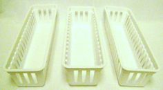 """STORAGE TRAYS 3 Pc Set Kitchen Home Office Garage by Mainstays. $4.49. Each plastic tray measures approximately 10"""" long by 3"""" wide by 2 1/2"""" deep.. Great organizer for small tools in the work shop.. Model railroaders can use these to protect valuable HO or S scale train cars while stored away in a drawer.. Excellent for hobby and Crafts parts storage.. Useful in many places around the home, such as kitchen, home office or garage.. Storage Trays 3 Pc Set.   Useful in many pl..."""