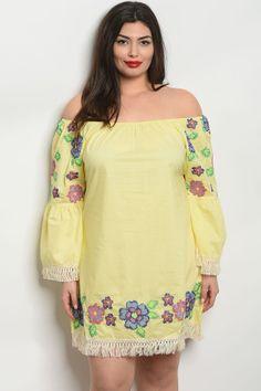 fd3020b6f7eb S10-16-4-d509x yellow plus size dress 2-2-2