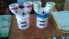 Adding machine! :-) super simple to make and fun for the kids to learn about adding/composing numbers!